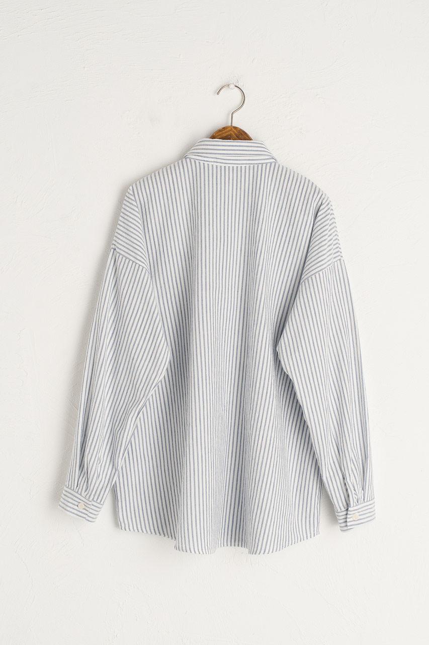 Noma Pin Stripe Shirt, Navy