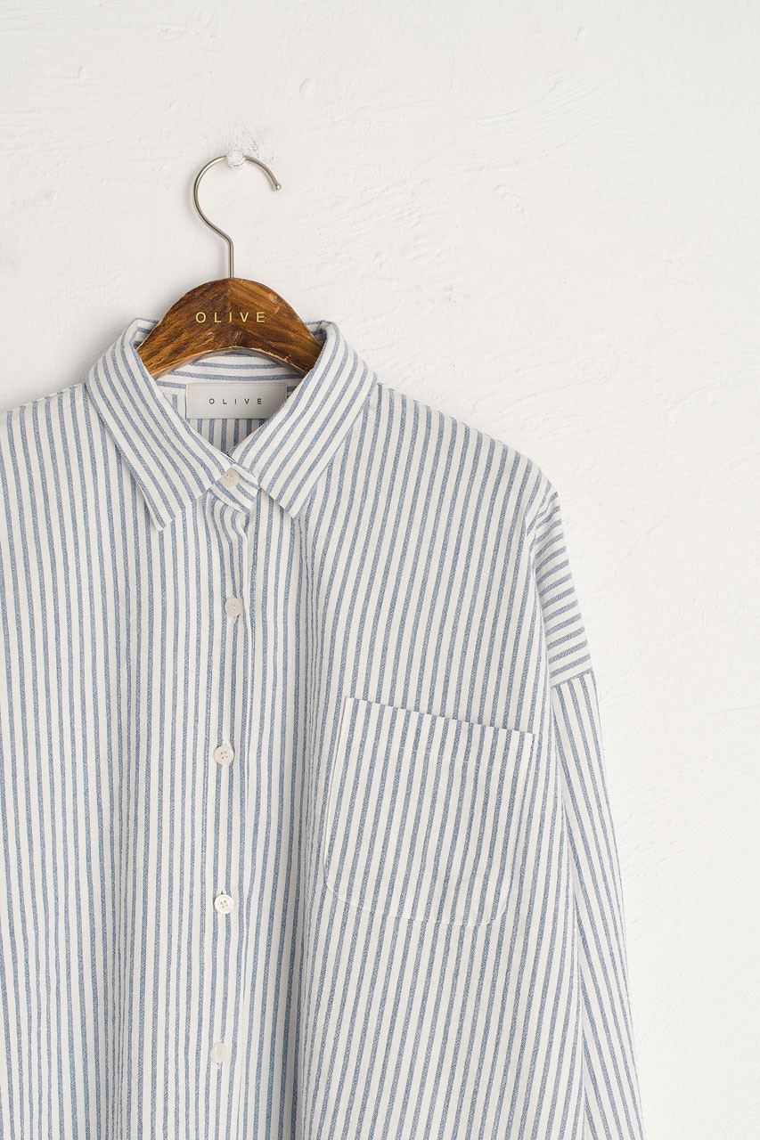 Noma Pin Stripe Shirt, Navy