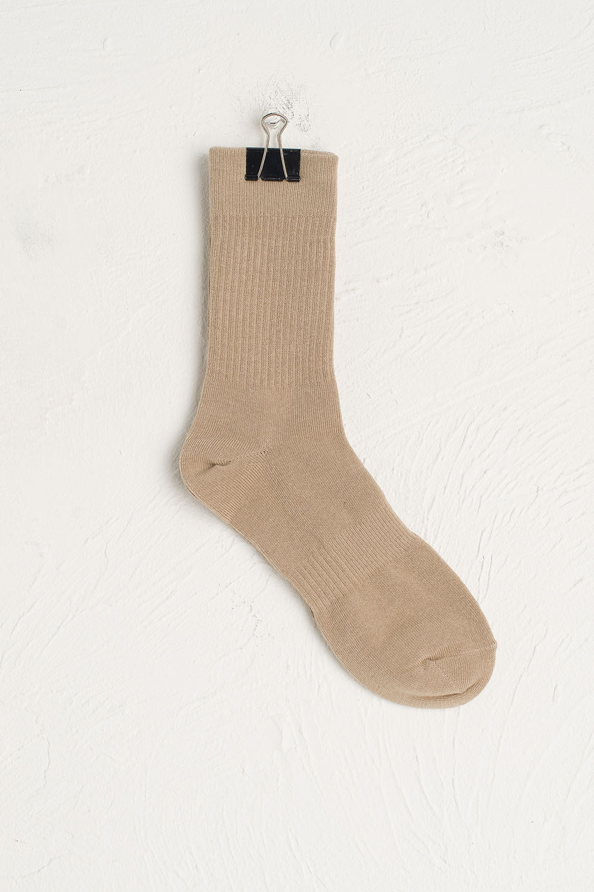 Hana Ribbed Long Socks, Sage