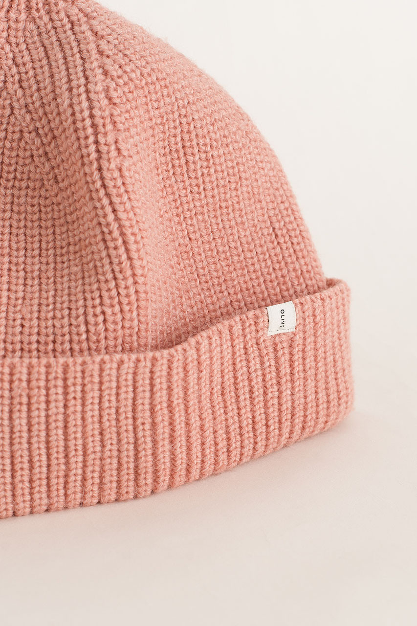 Knitted Beanie, Pink