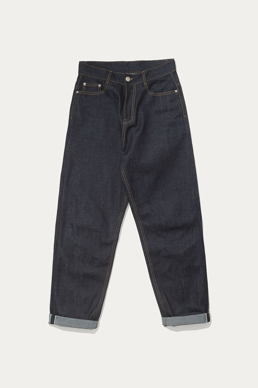 Menswear | Selvedge Tapered Jeans, Indigo