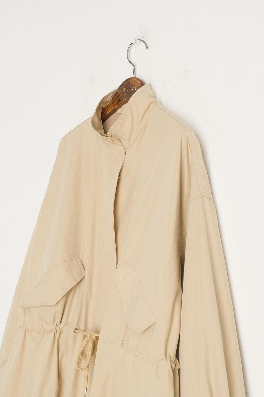 Kernow Over Neck Coat, Beige