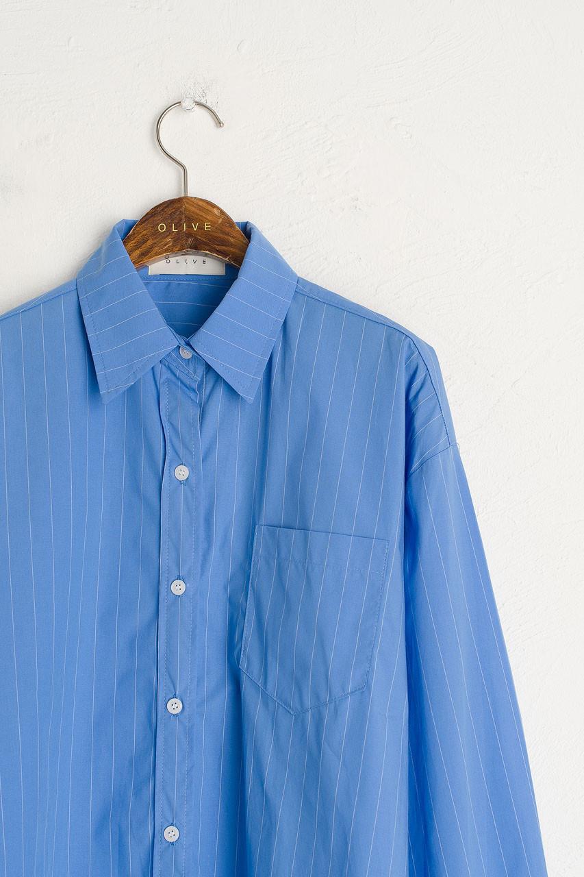 Darcey Stripe Shirt, Blue