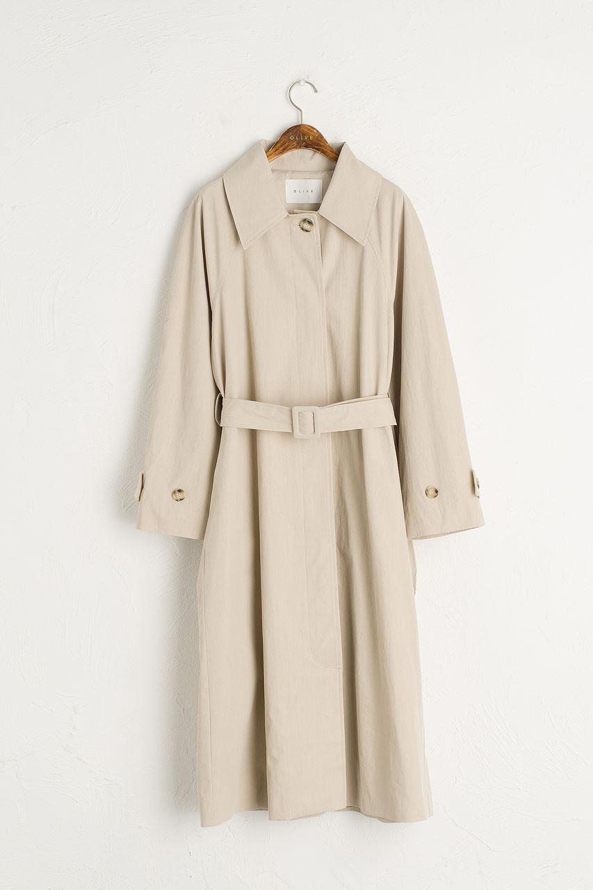 Roa Belted Trench Coat, Beige