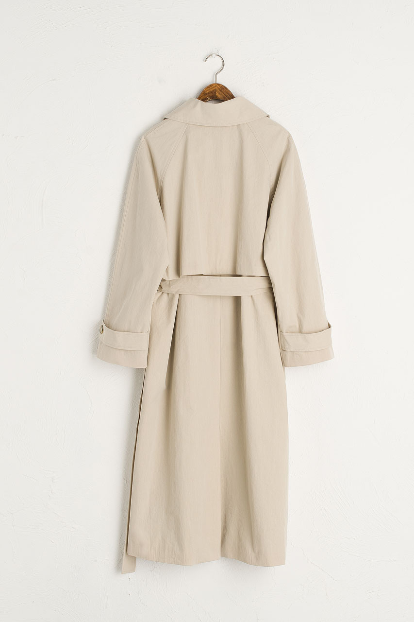 Roa Belted Trench Coat, Beige