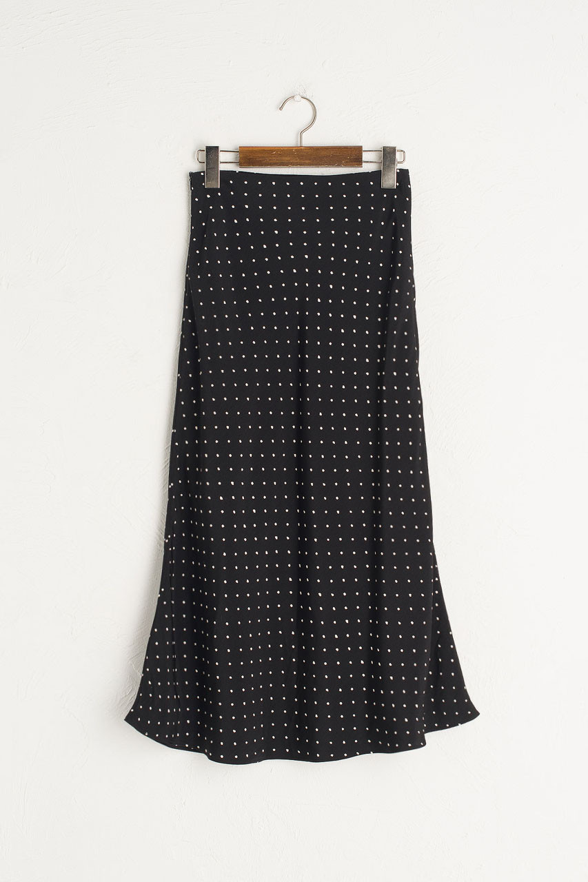 Tomo Dot Skirt, Black