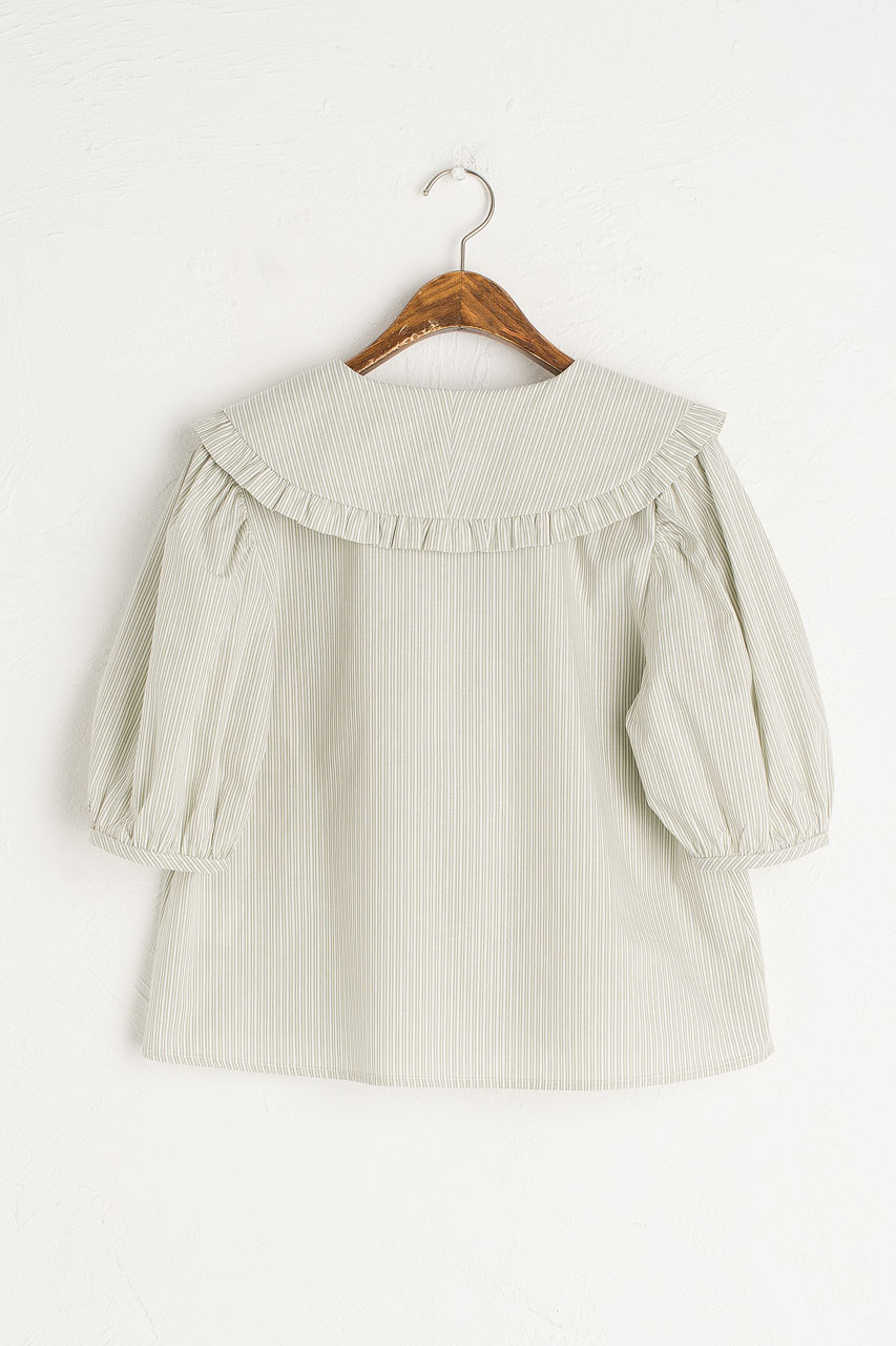 Anya Stripe Blouse, Mint