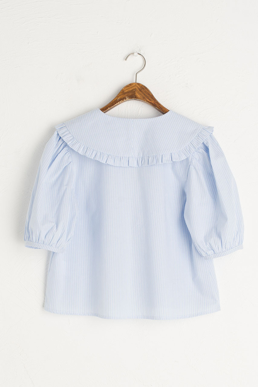 Anya Stripe Blouse, Blue