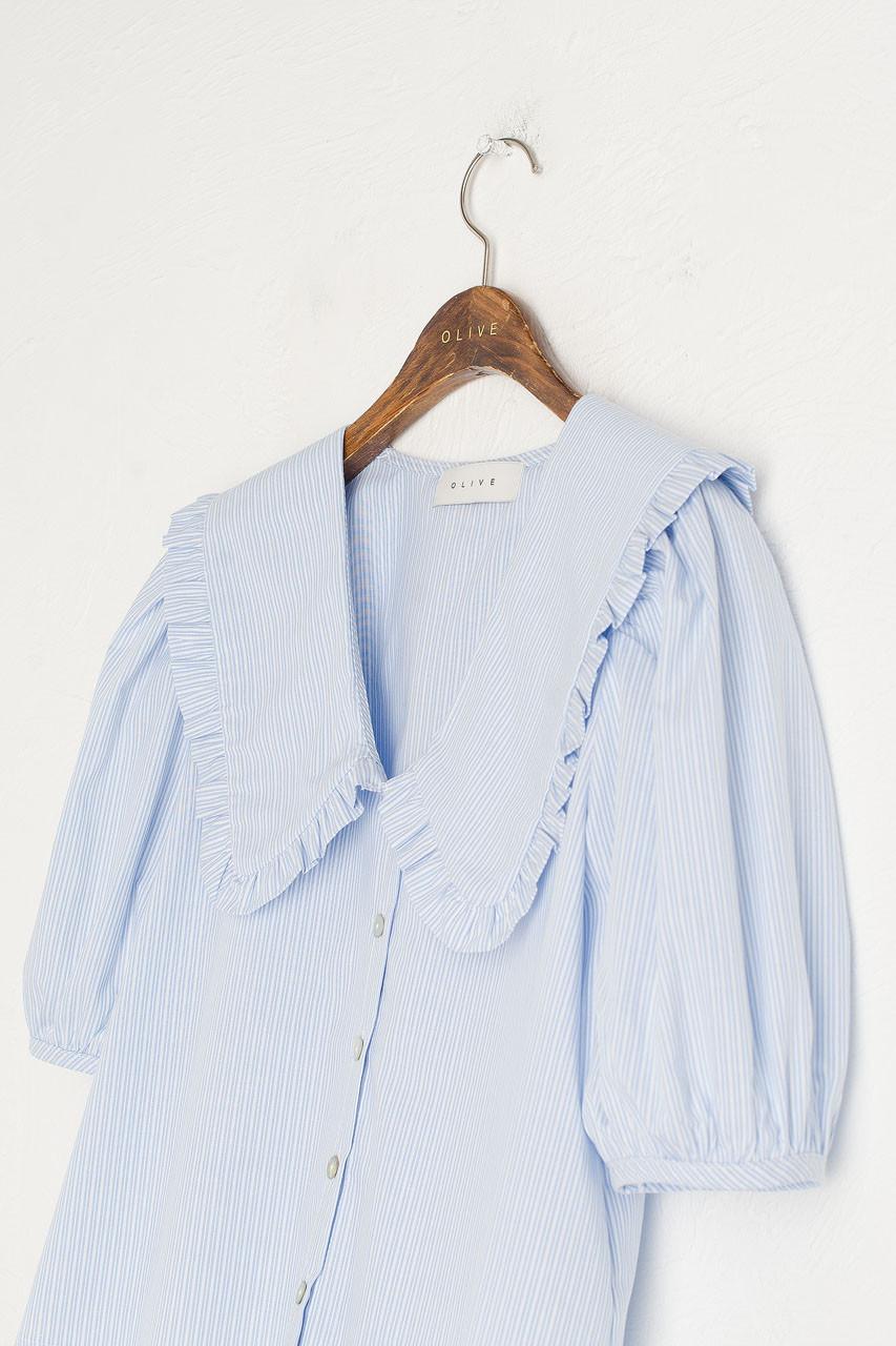 Anya Stripe Blouse, Blue