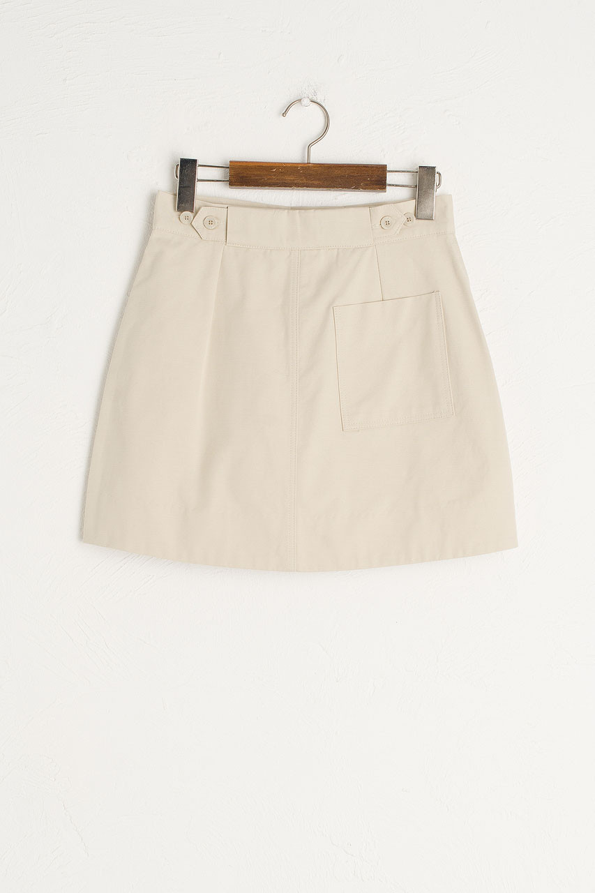 Kiko Mini Pocket Skirt, Beige