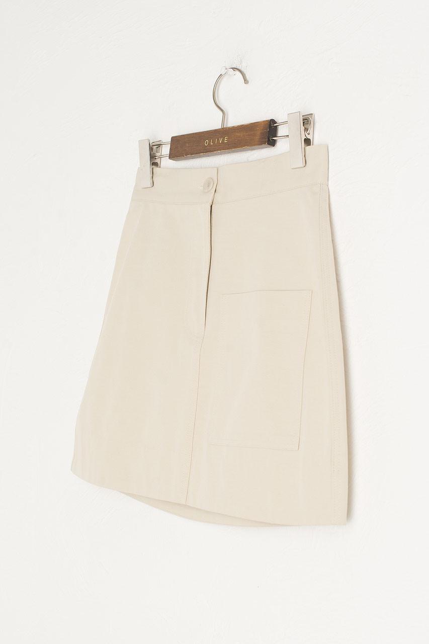 Kiko Mini Pocket Skirt, Beige