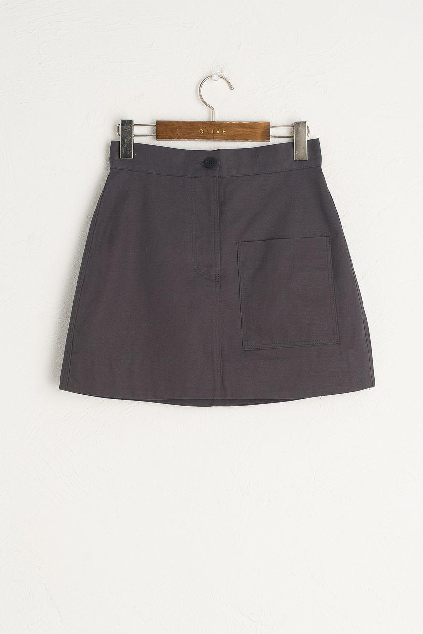 Kiko Mini Pocket Skirt, Charcoal
