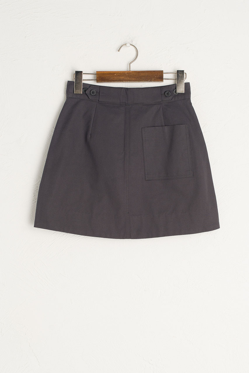 Kiko Mini Pocket Skirt, Charcoal