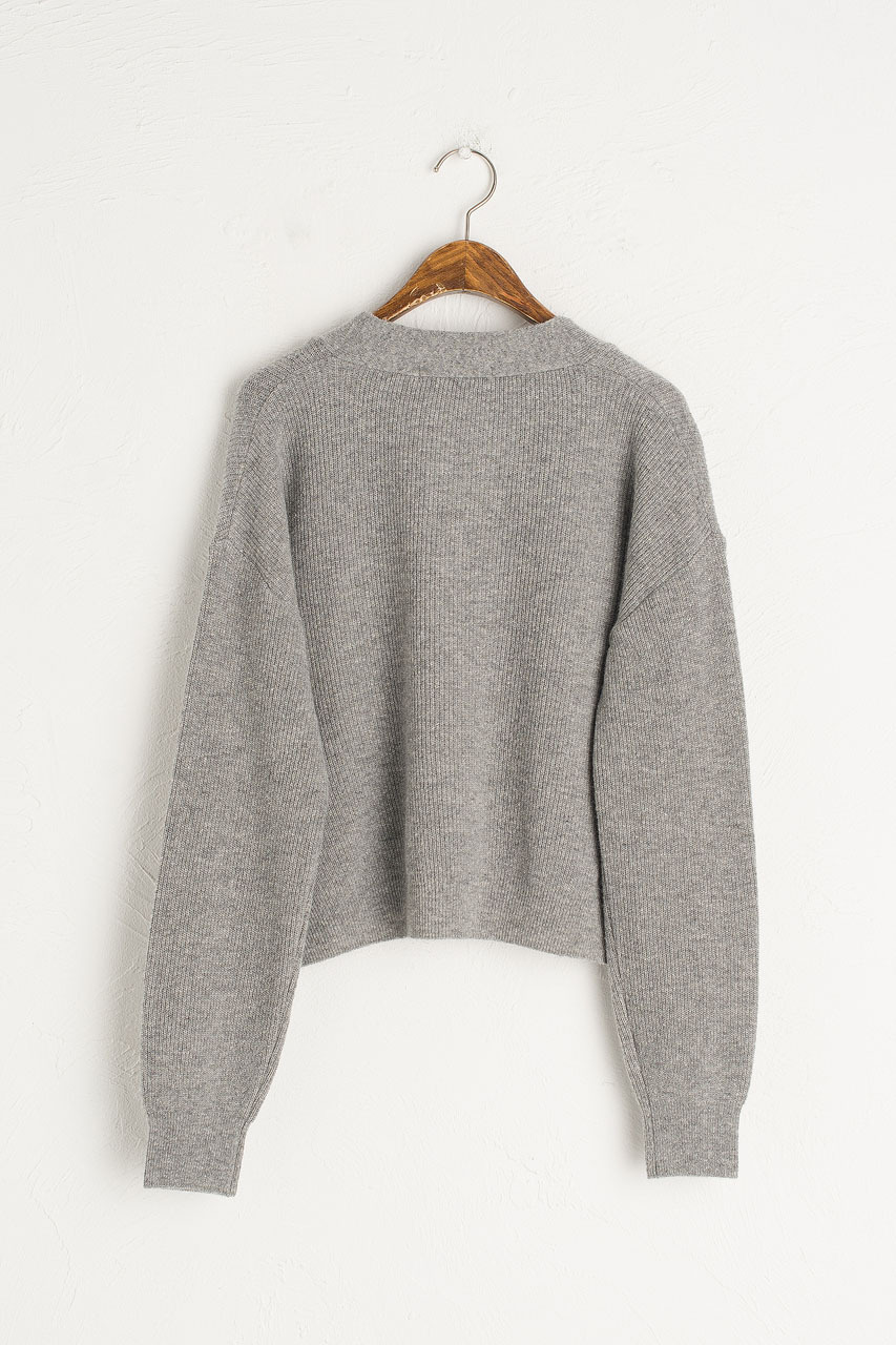 Hako Lightweight Cardigan, Grey