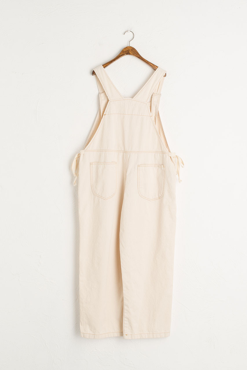 Asuka Twin Ribbon Dungaree, Ivory