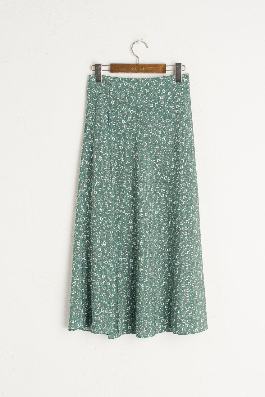 Ayaka Sunflower Skirt, Green