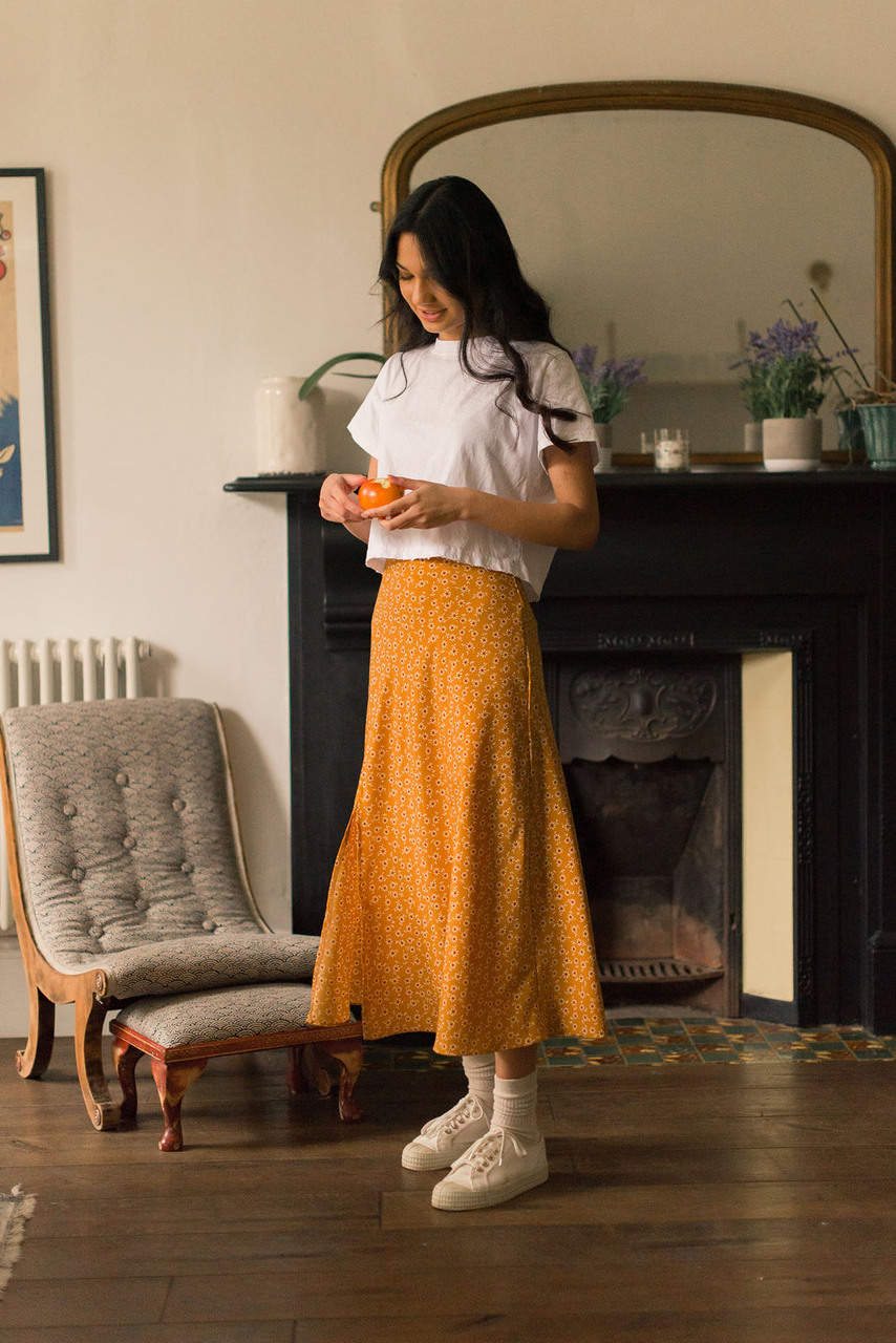 Ayaka Sunflower Skirt, Butterscotch