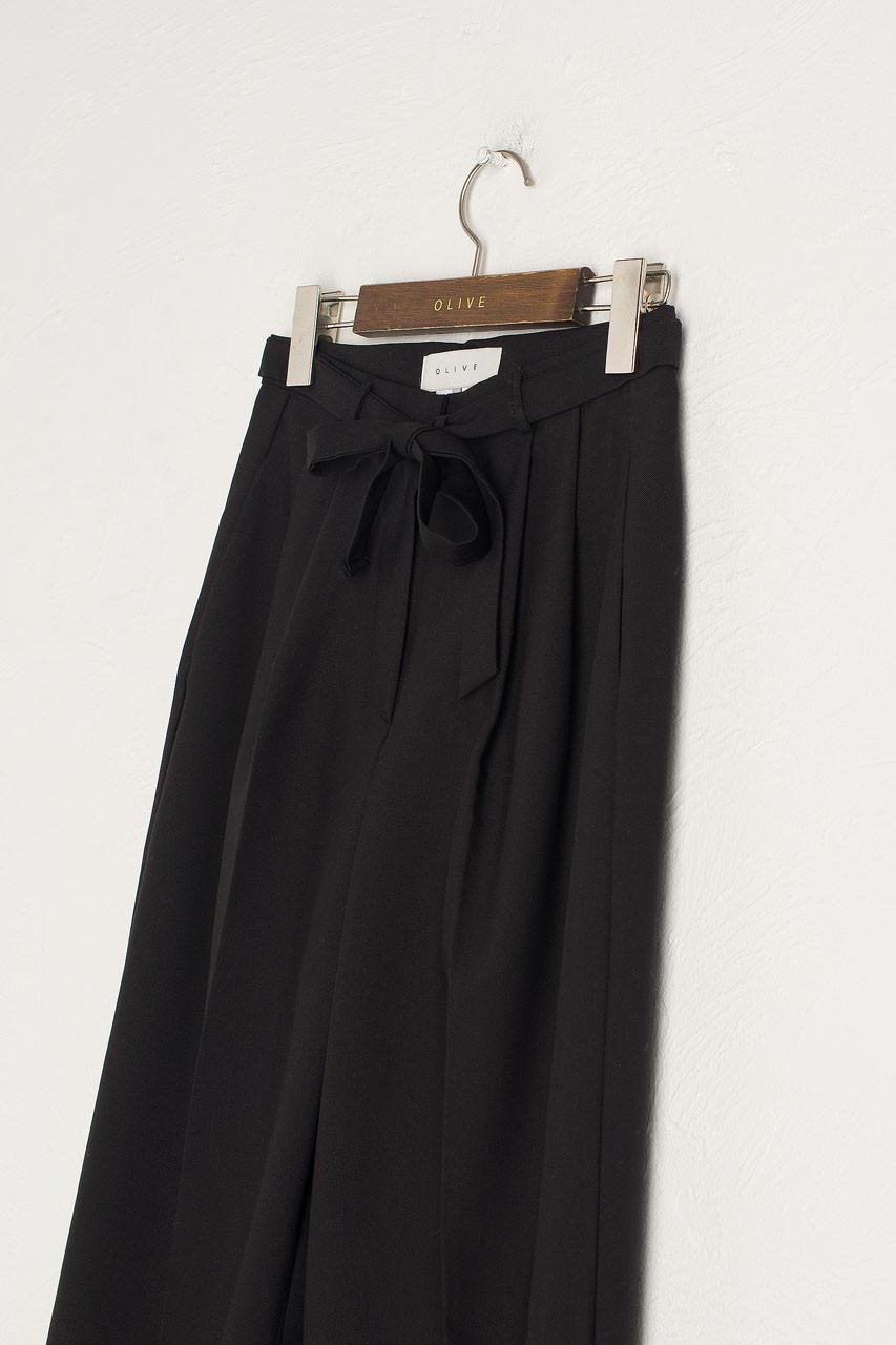 Jena Belted Slacks, Black