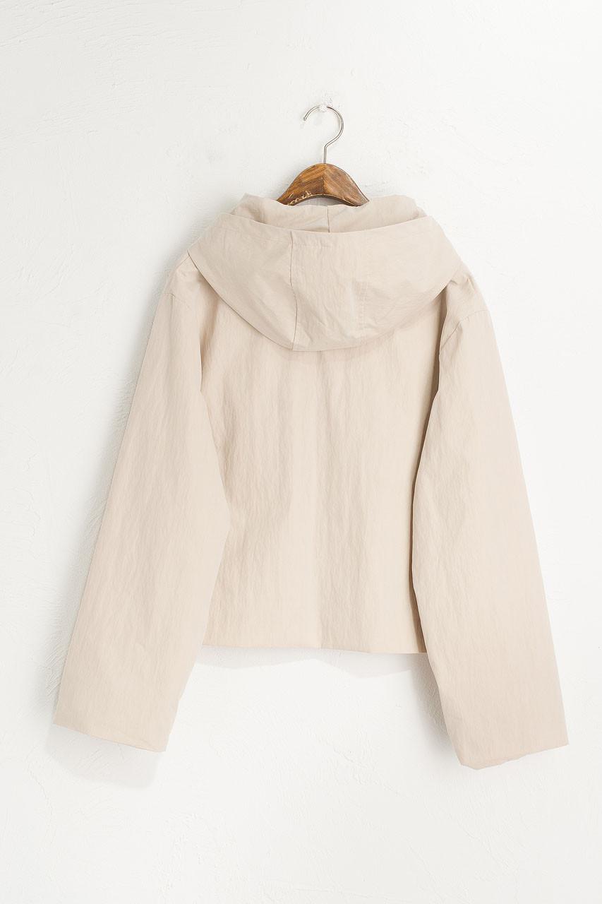Short Hooded Jacket, Chamomile