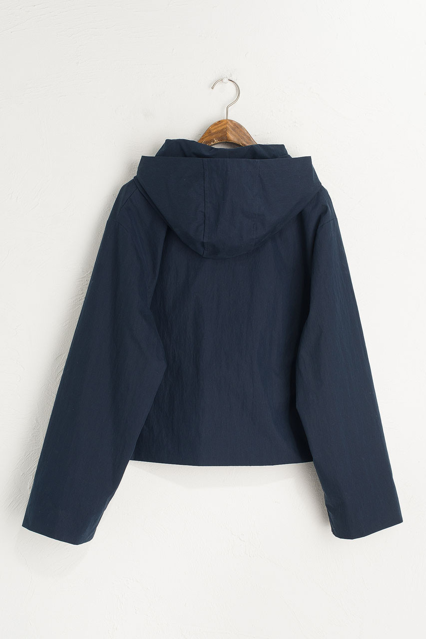 Short Hooded Jacket, Navy