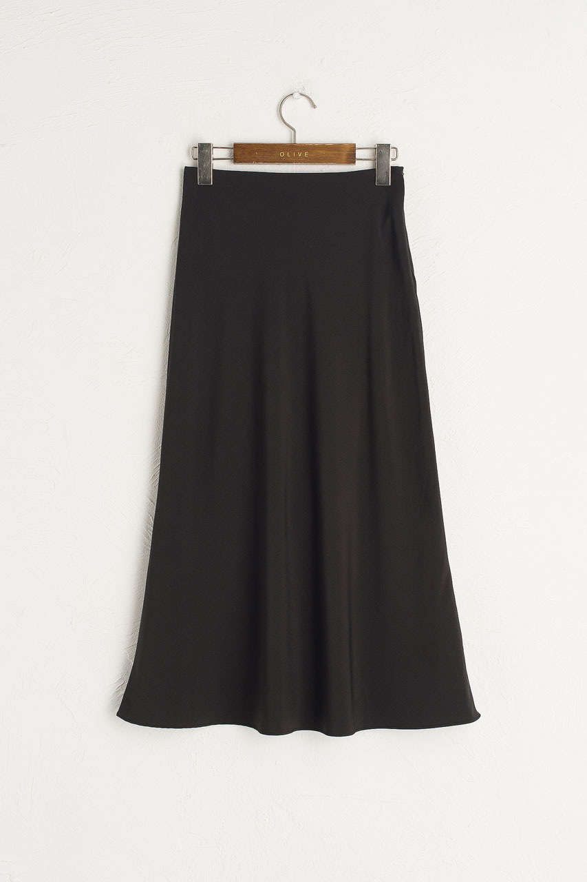 Simple Trumpet Skirt, Black