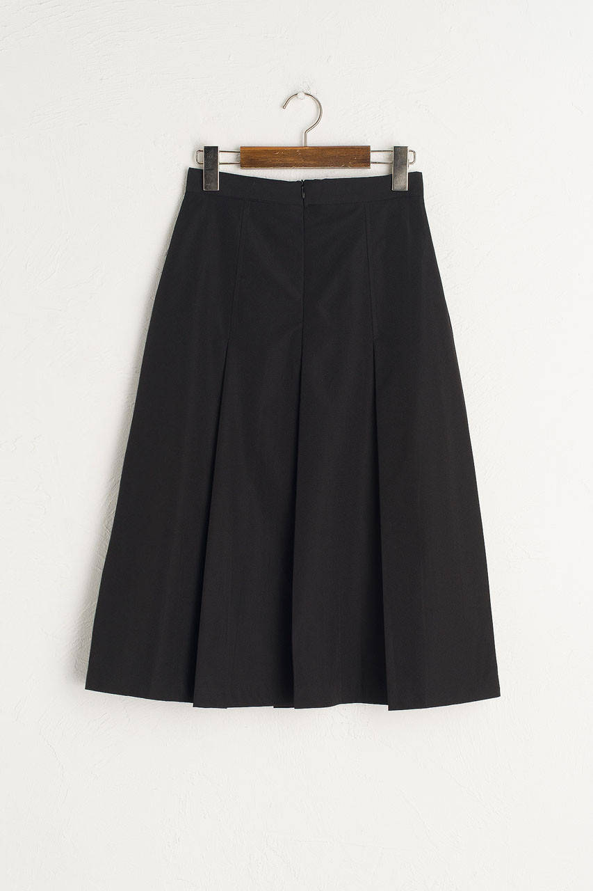 Minami Pleated Skirt, Black