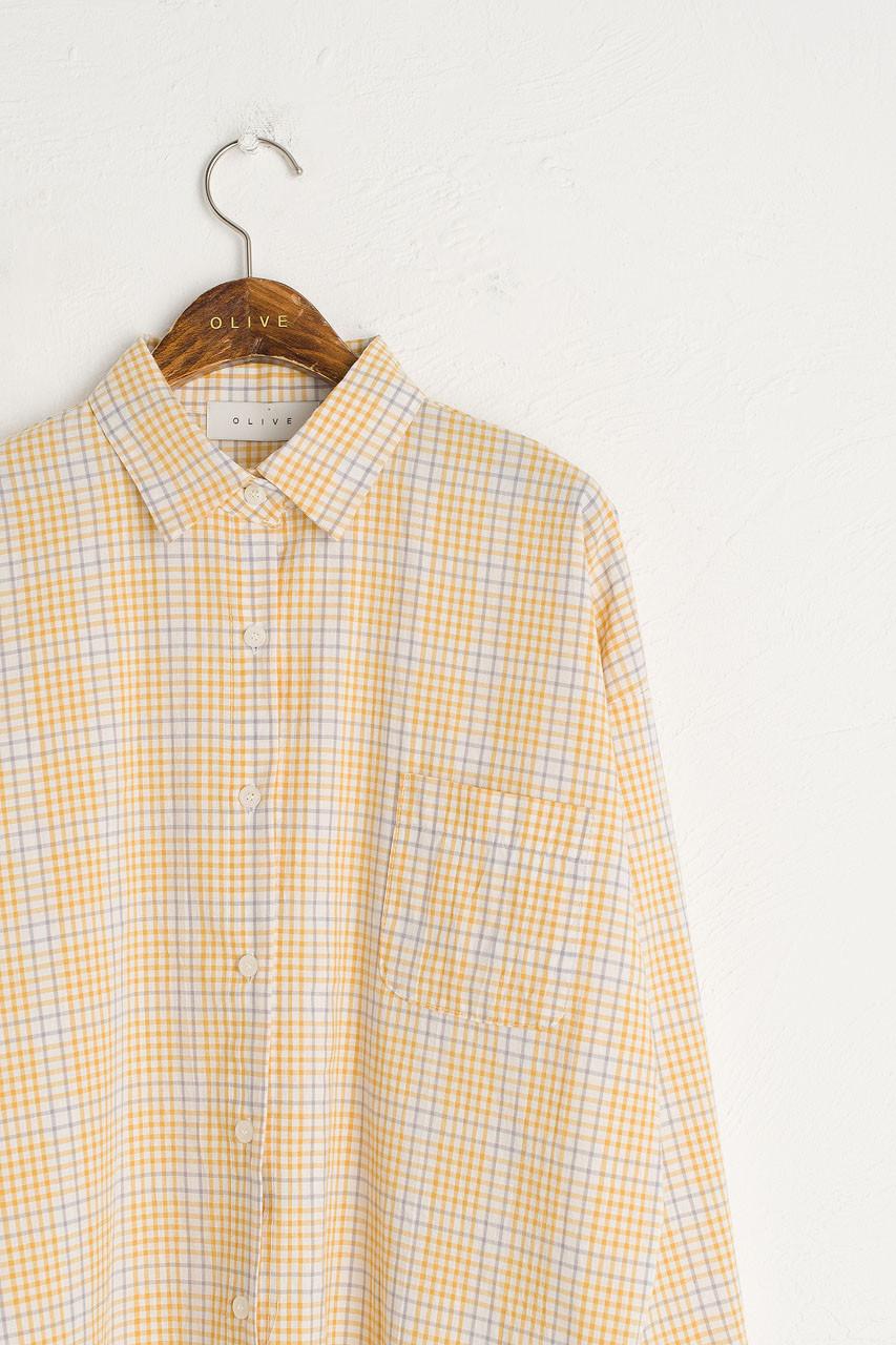 Emi Check Shirt, Yellow