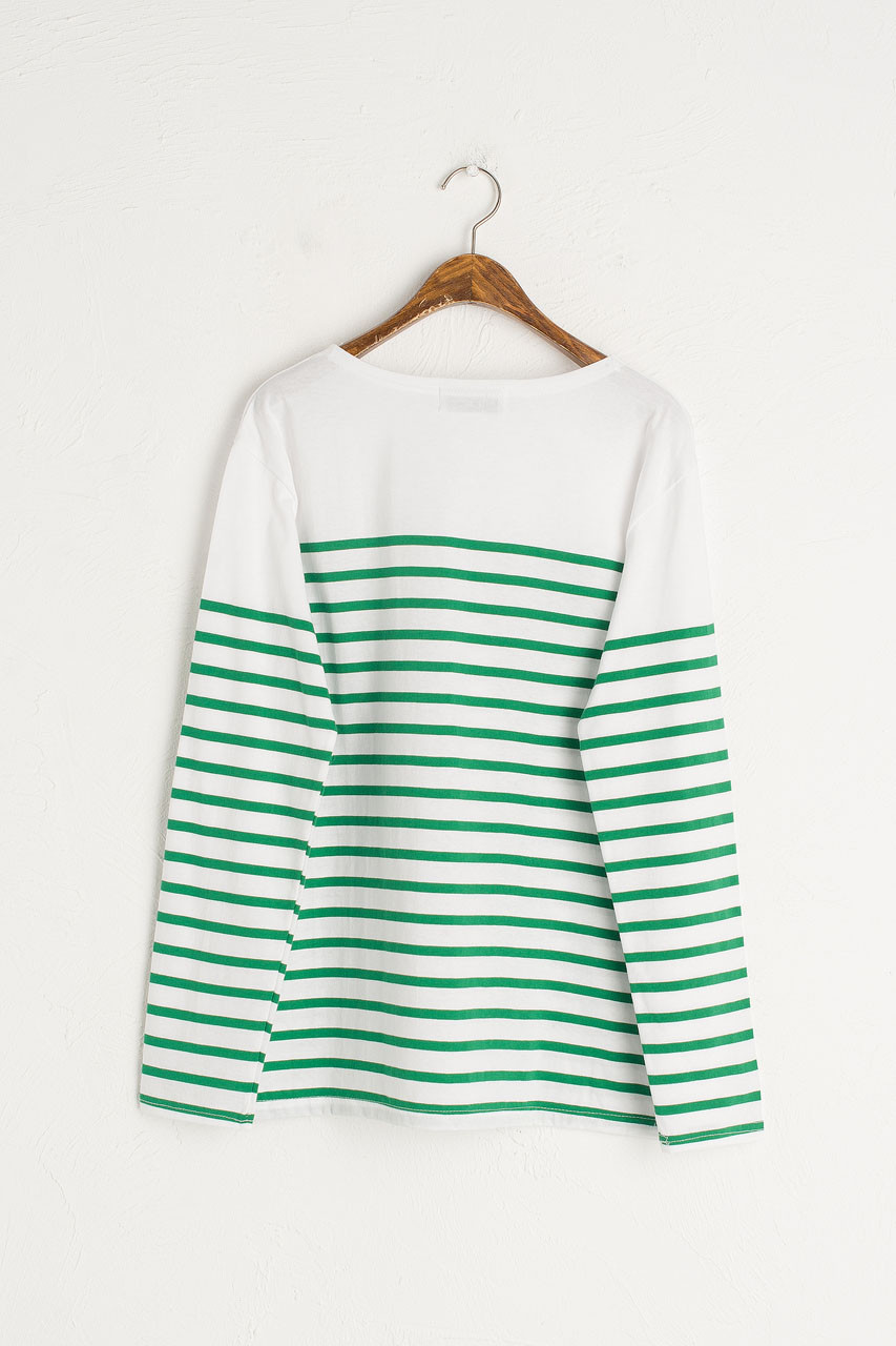 Half Stripe Tee, Green