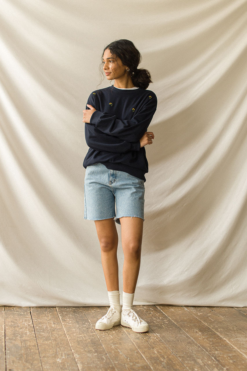 Denim Bermuda Shorts, Light Blue