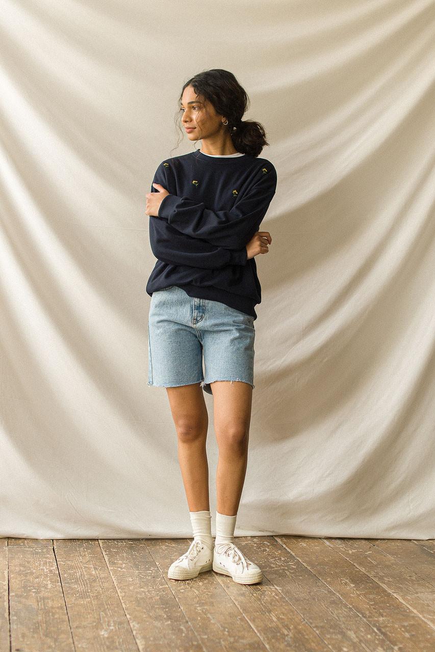 Denim Bermuda Shorts, Light Blue