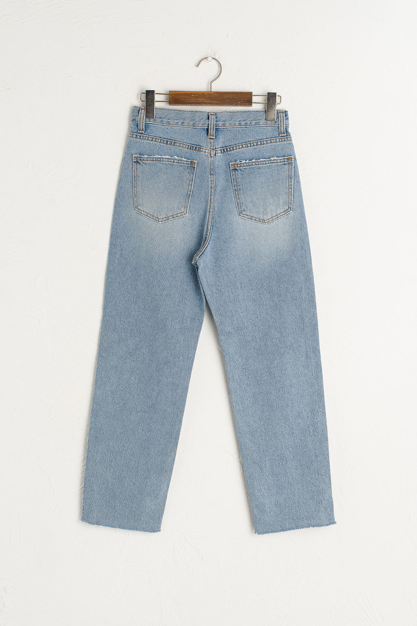 Vintage Washed Straight Jean, Light Blue