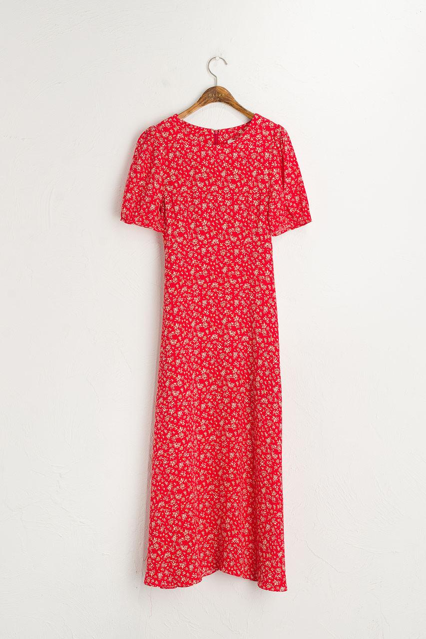 Wildflower Printed Dress, Red