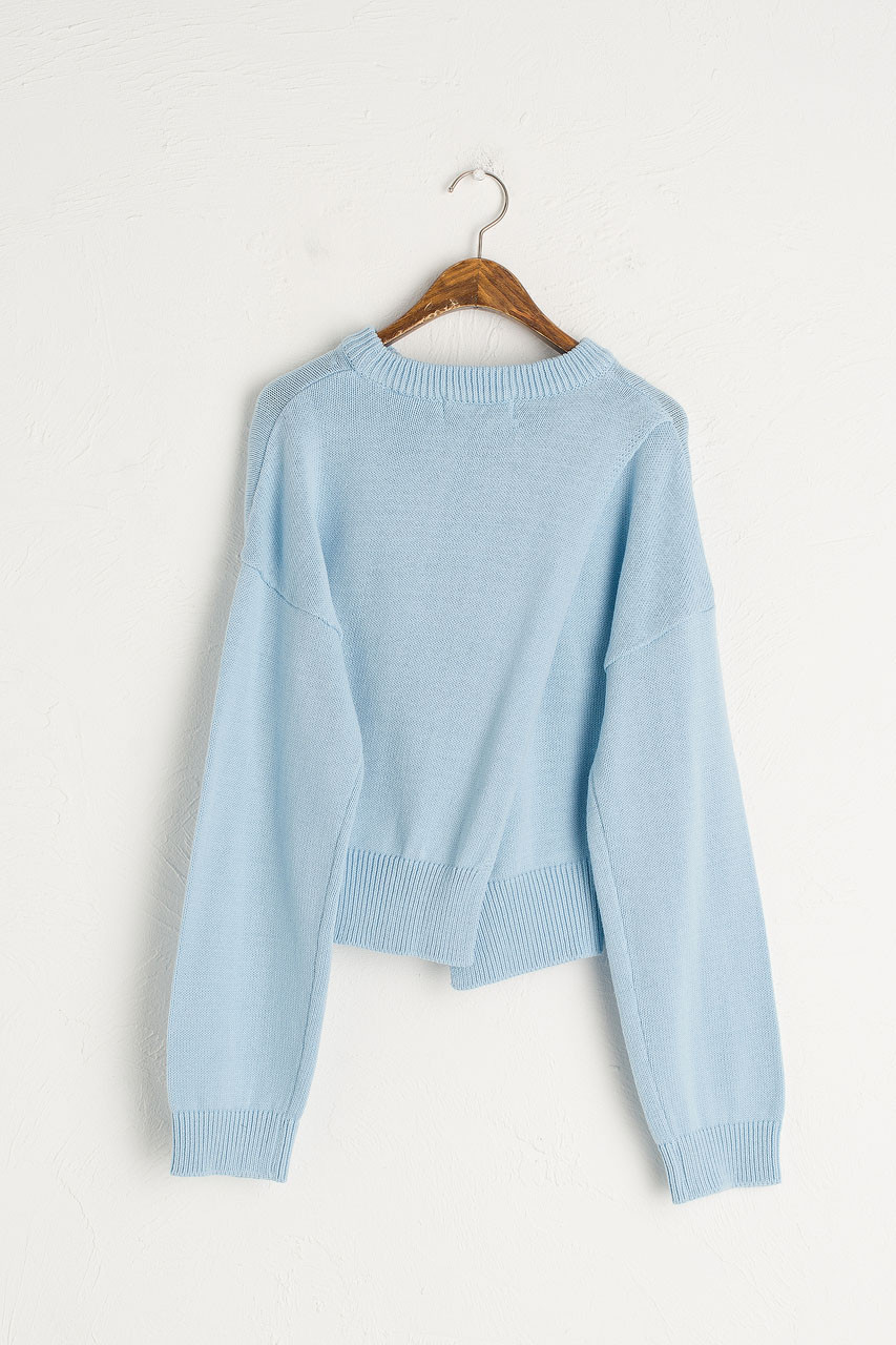 Kiko Open Back Crop Jumper, Blue