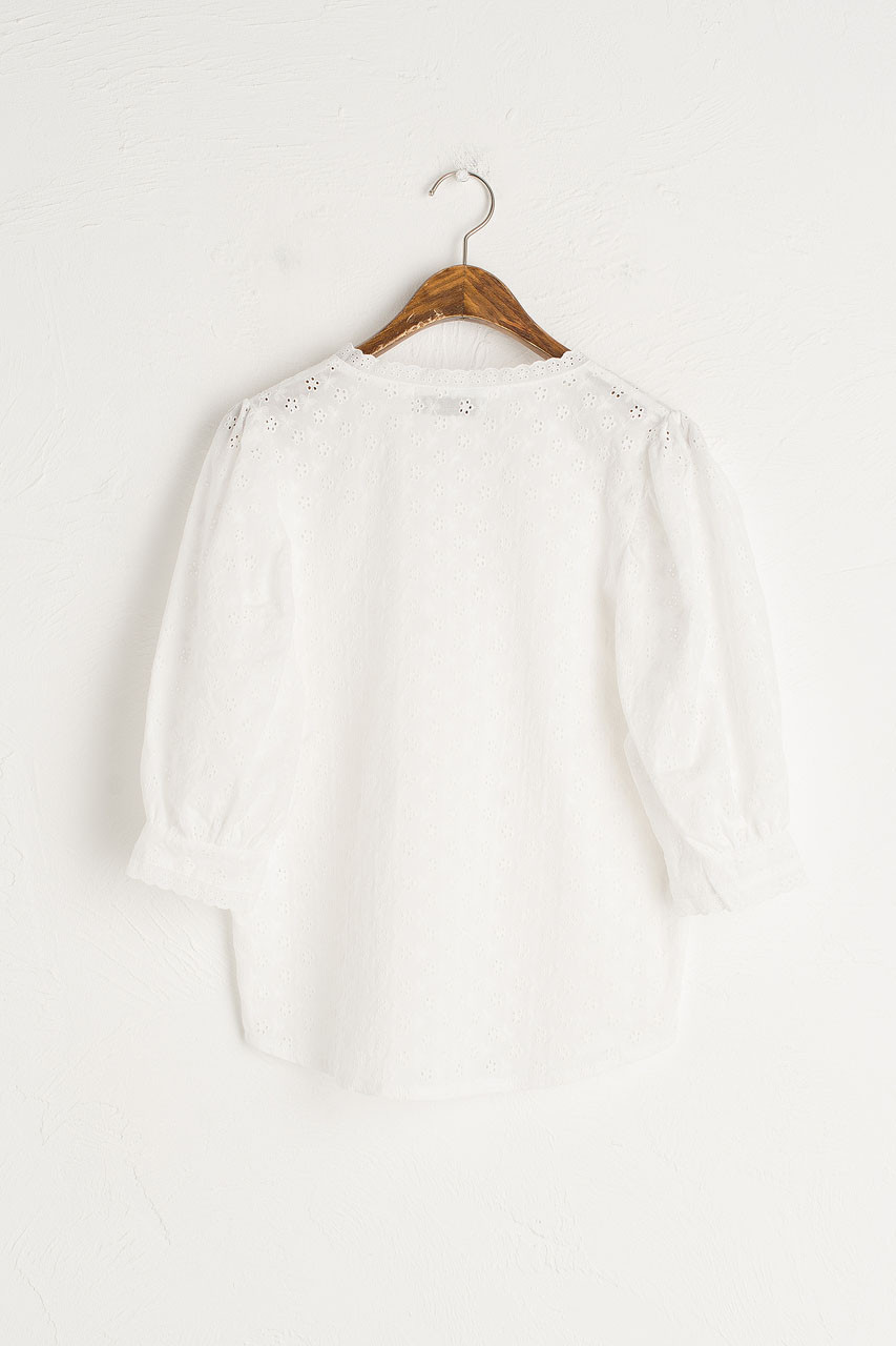 Lace Prairie Blouse, Ivory