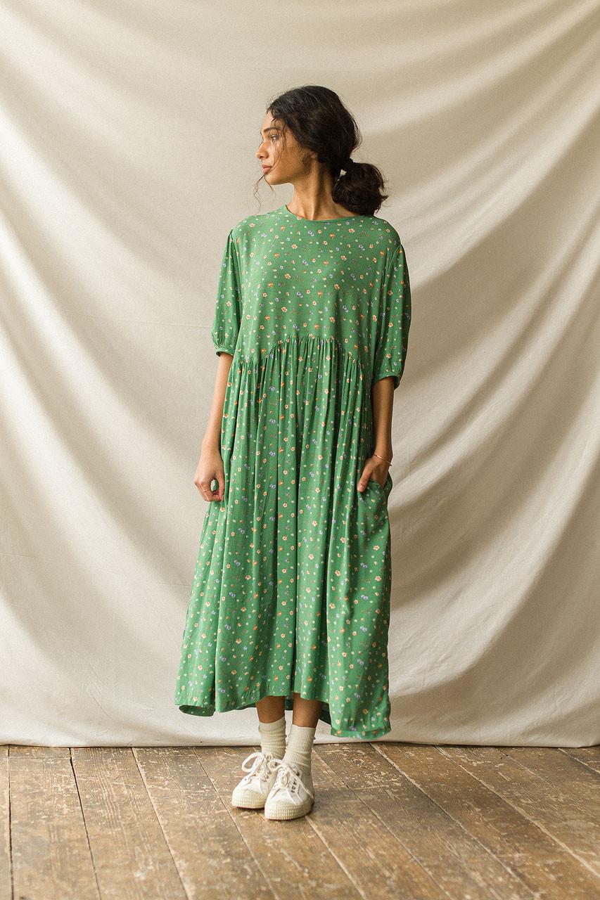 Georgie Pocket Dress, Green