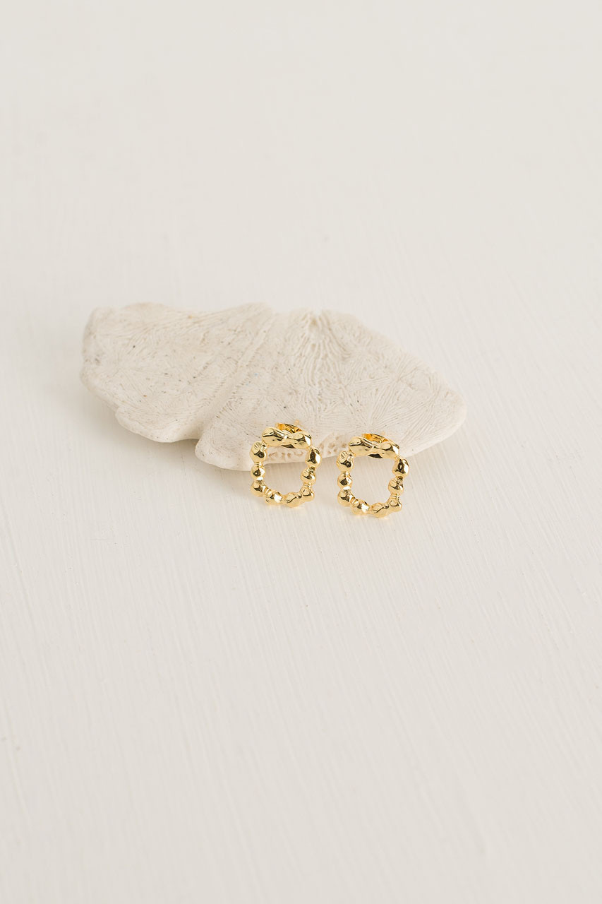 Betsy Bobble Studs, Gold Plated