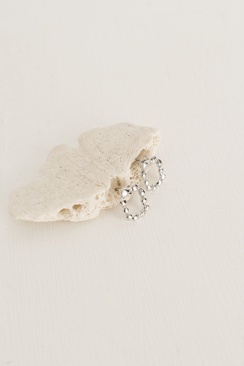 Betsy Bobble Studs, Silver Plated