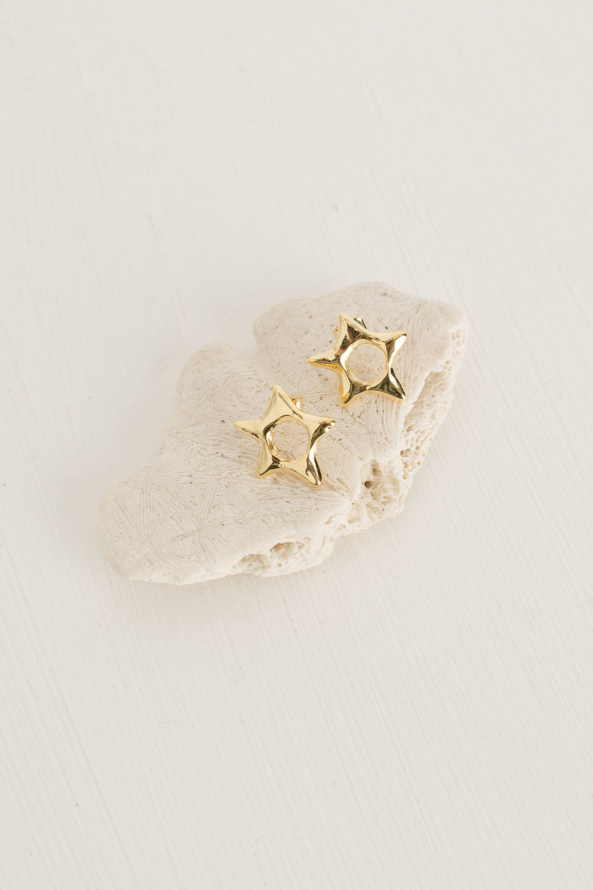 Skyla Star Studs, Gold Plated