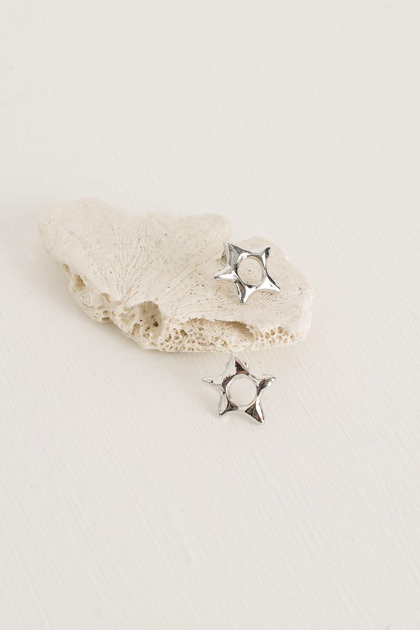 Skyla Star Studs, Silver Plated