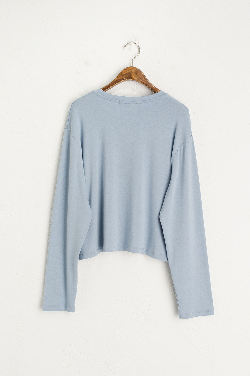 Moa Soft Crop Tee, Blue