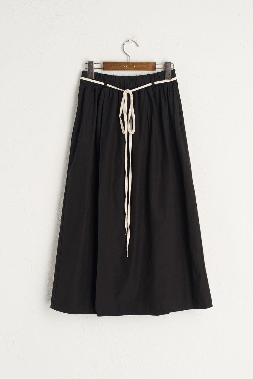 Cotton Utility Skirt, Black
