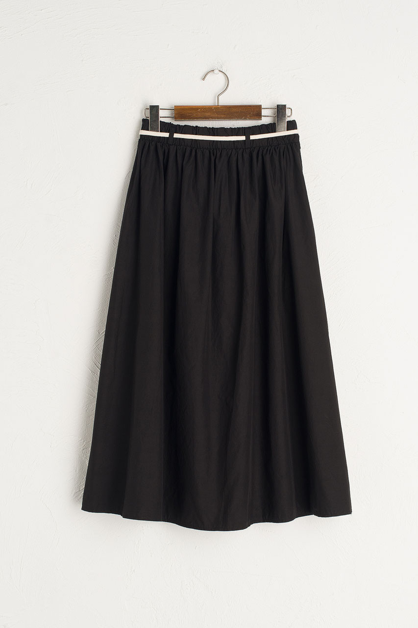Cotton Utility Skirt, Black