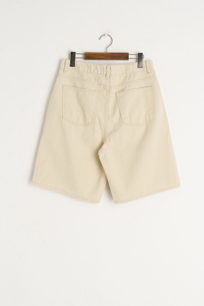 Denim Cargo Shorts, Beige