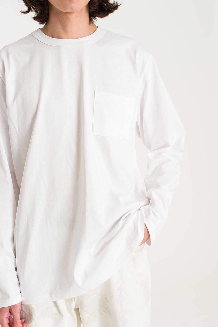 Menswear | Pocket Long Sleeve Tee, White