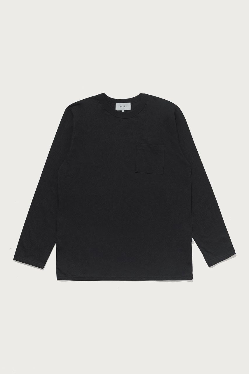Menswear | Pocket Long Sleeve Tee, Black