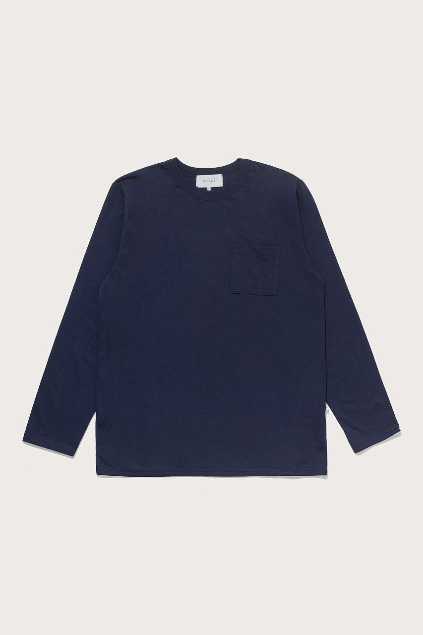 Menswear   Pocket Long Sleeve Tee, Navy