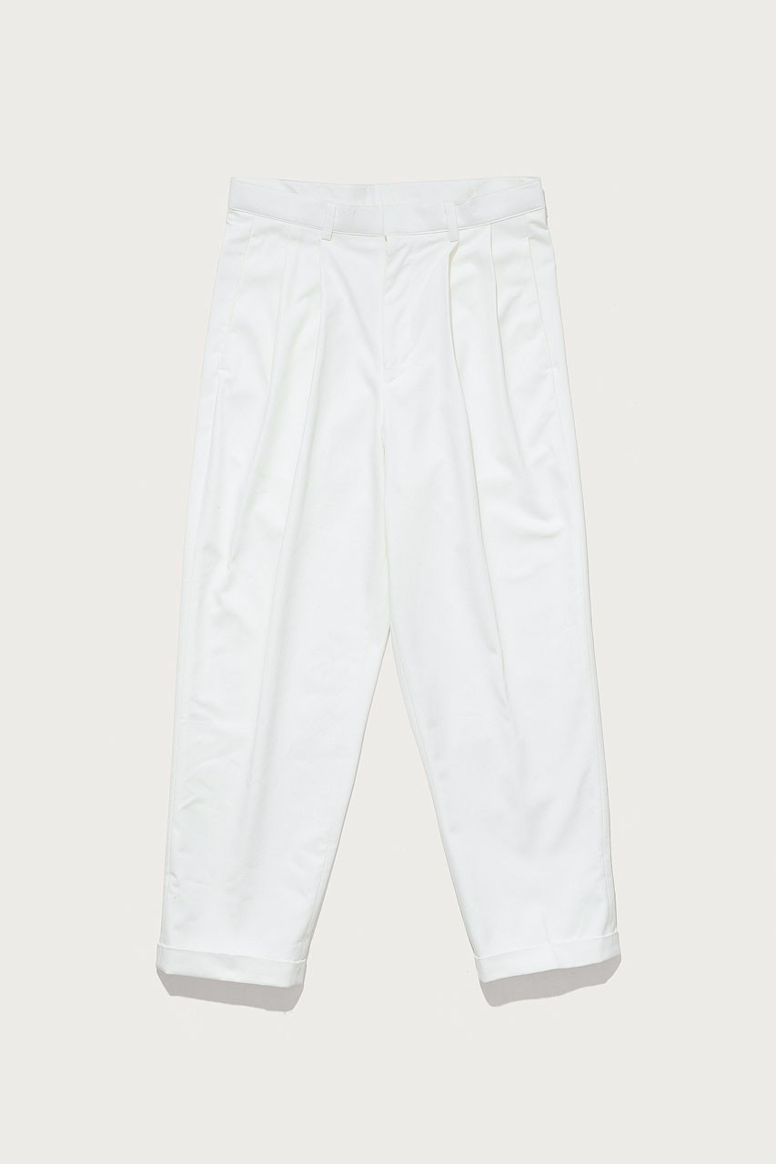 Menswear   Twill Volk Trousers, White