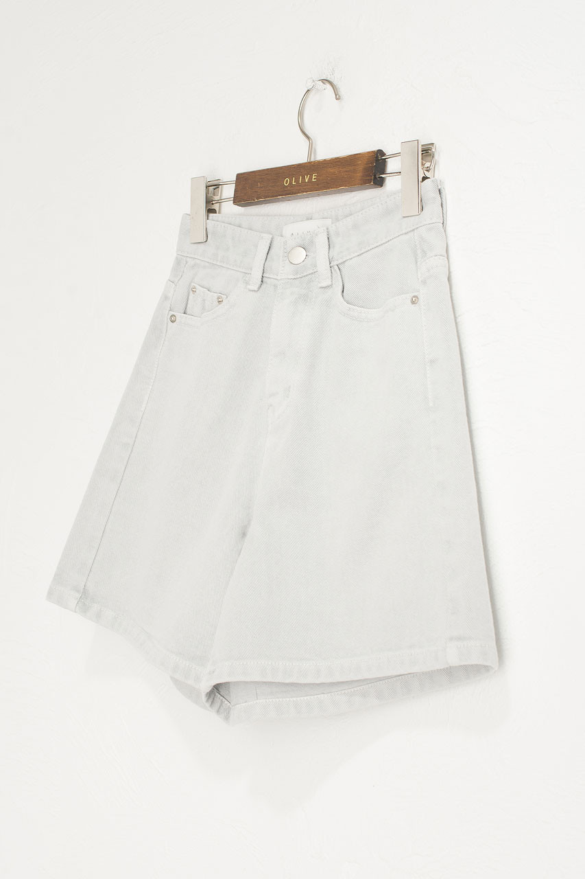 Vintage Wash Shorts, Grey