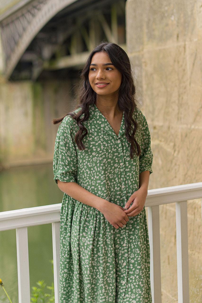 Rosie Babydoll Dress, Green