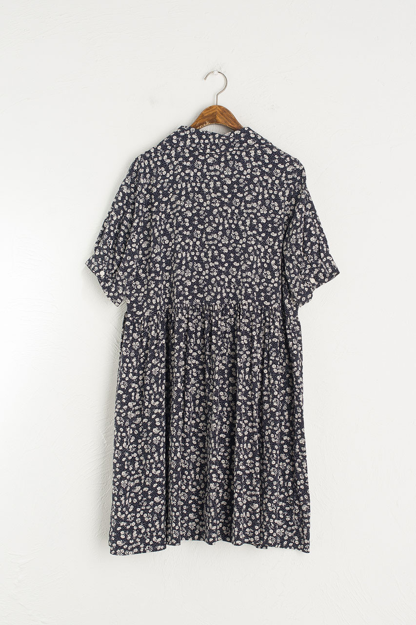 Rosie Babydoll Dress, Navy